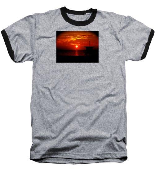 Sunrise In Miami Beach Baseball T-Shirt