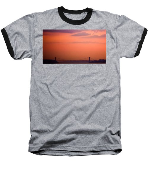 Baseball T-Shirt featuring the photograph Sunrise In New York by Sara Frank