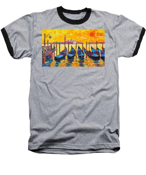 Sunrise In Venice Italy Gondolas And San Giorgio Maggiore Baseball T-Shirt
