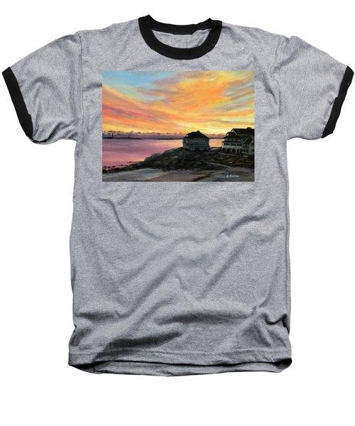 Sunrise Long Beach Rockport Ma Baseball T-Shirt by Eileen Patten Oliver