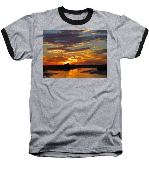 Sunrise Magic Baseball T-Shirt by Dianne Cowen