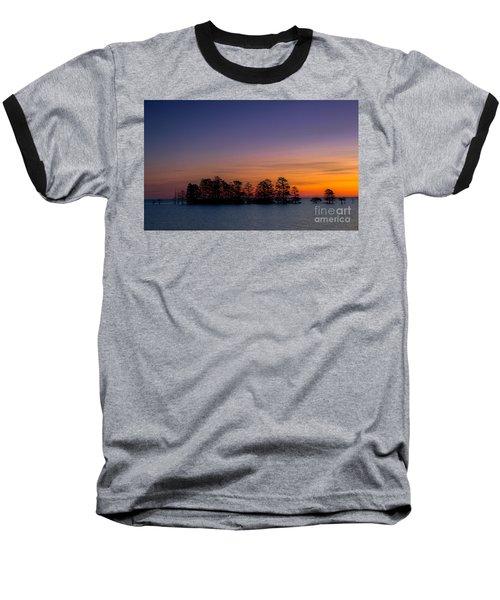 Sunrise On Lake Mattamuskeet Baseball T-Shirt