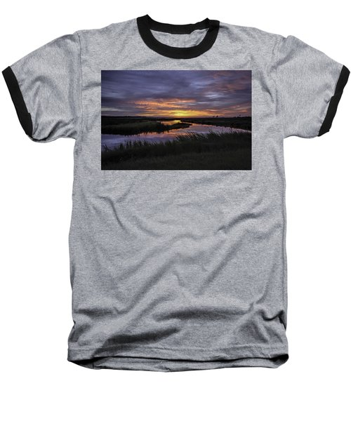 Sunrise On Lake Shelby Baseball T-Shirt