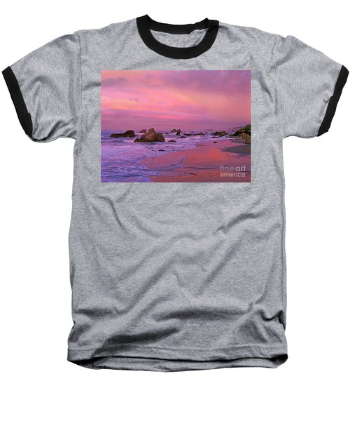 Baseball T-Shirt featuring the photograph Sunrise On Sea Stacks Harris Sb Oregon by Dave Welling