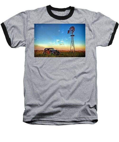 Baseball T-Shirt featuring the photograph Sunrise On The Farm by Ken Smith