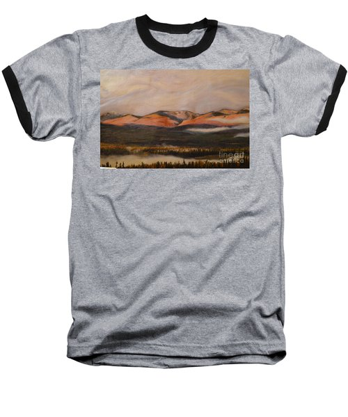 Baseball T-Shirt featuring the painting Sunrise On The Ibex Valley by Brian Boyle