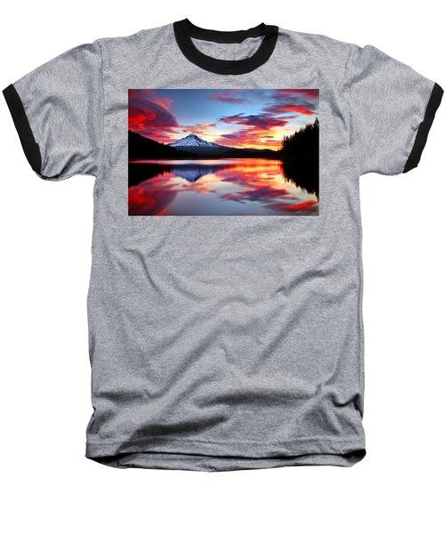 Sunrise On The Lake Baseball T-Shirt by Darren  White