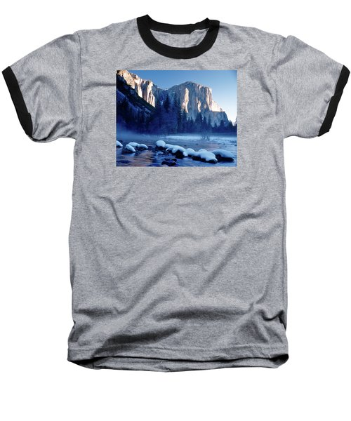 Sunrise On El Capitan Yosemite National Park Baseball T-Shirt