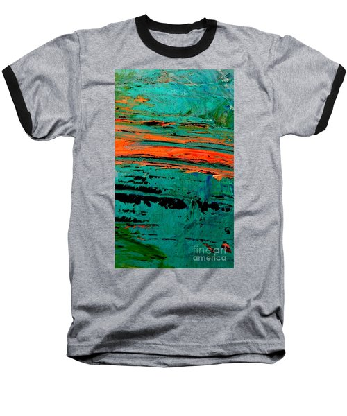 Baseball T-Shirt featuring the painting Sunrise On The Water by Jacqueline McReynolds