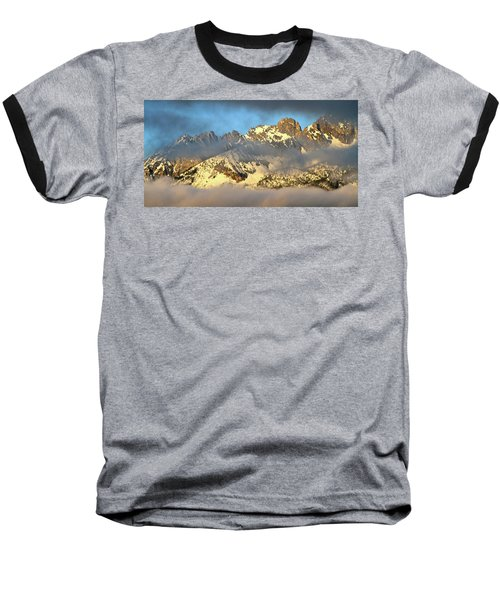 Sunrise On Thompson Peak Baseball T-Shirt by Ed  Riche