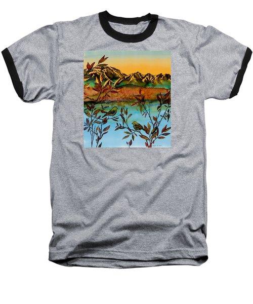 Sunrise On Willows Baseball T-Shirt by Carolyn Doe