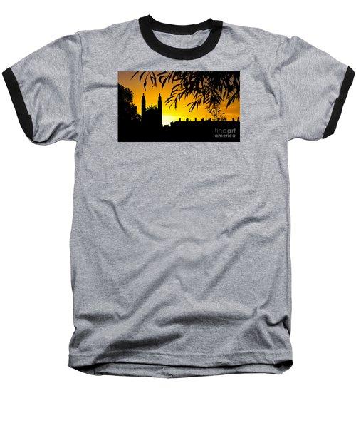 Sunrise Over Cambridge Baseball T-Shirt by David Warrington