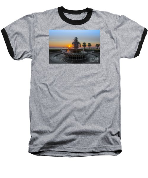Sunrise Over Charleston Baseball T-Shirt