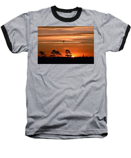 Sunrise Over Fenwick Island Baseball T-Shirt
