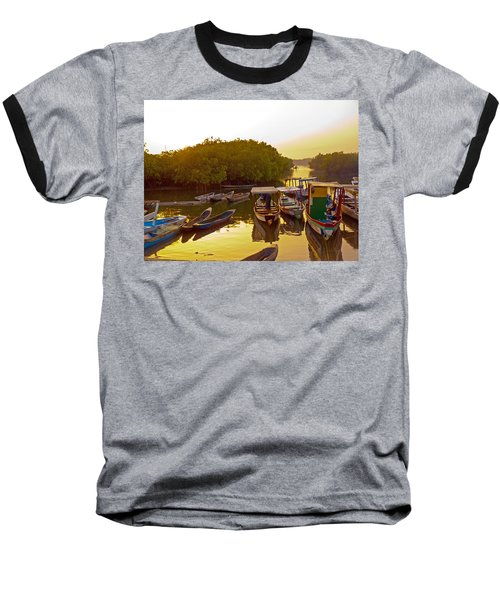 Sunrise Over Gambian Creek Baseball T-Shirt