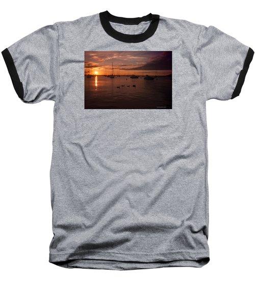 Sunrise Over Lake Michigan Baseball T-Shirt
