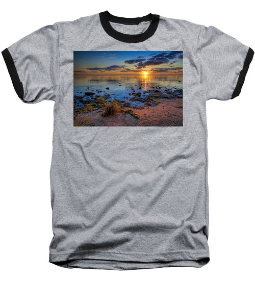 Sunrise Over Lake Michigan Baseball T-Shirt by Scott Norris