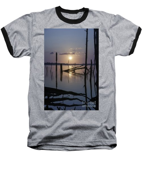 Sunrise Over Manasquan Reservoir Baseball T-Shirt