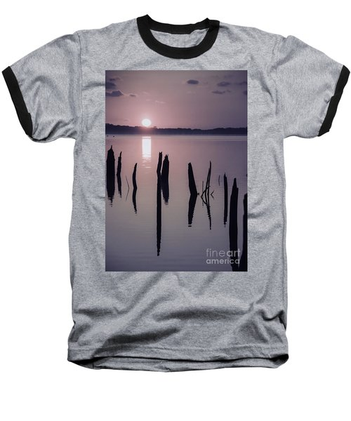 Sunrise Over Manasquan Reservoir Iv Baseball T-Shirt
