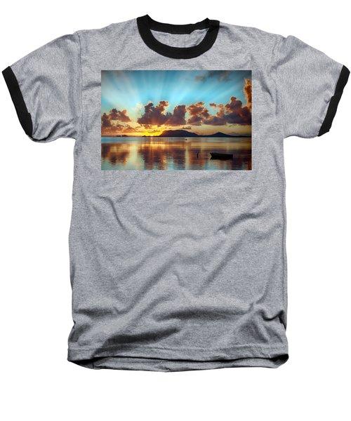 Sunrise Over Marine Corps Base Hawaii Baseball T-Shirt