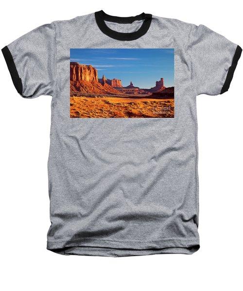 Sunrise Over Monument Valley Baseball T-Shirt