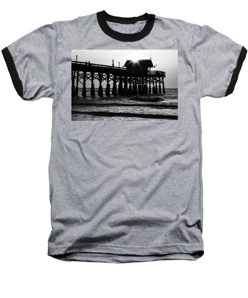 Sunrise Over Pier Baseball T-Shirt