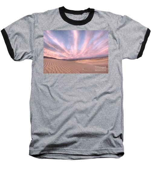Sunrise Over Sand Dunes Baseball T-Shirt by Juli Scalzi
