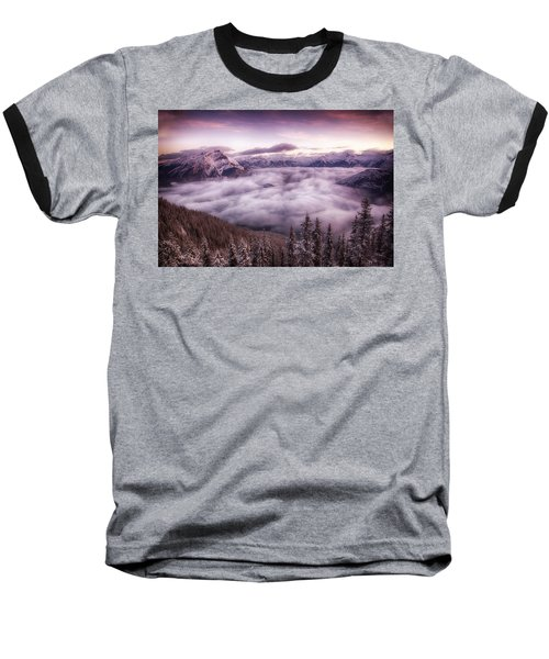 Sunrise Over The Canadian Rockies Baseball T-Shirt