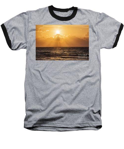 Sunrise Over The Caribbean Sea Baseball T-Shirt