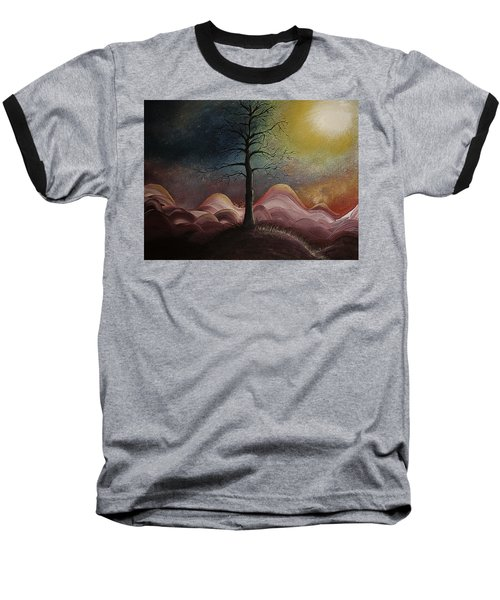 Sunrise Over The Mountains Baseball T-Shirt
