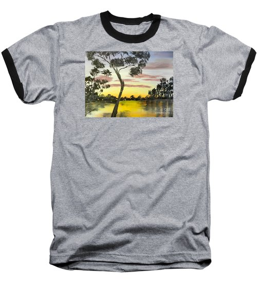 Sunrise Over The Murray River At Lowson South Australia Baseball T-Shirt