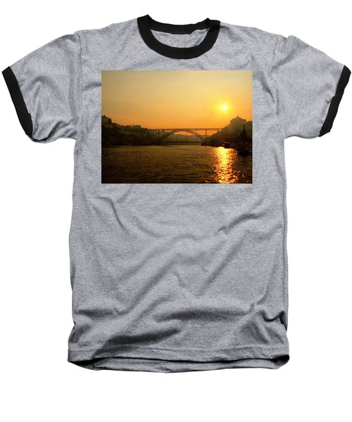 Sunrise Over The River Baseball T-Shirt