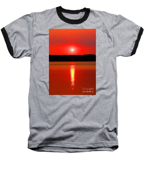 Sunrise Over Whidbey Island Baseball T-Shirt