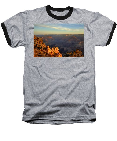 Sunrise Over Yaki Point At The Grand Canyon Baseball T-Shirt