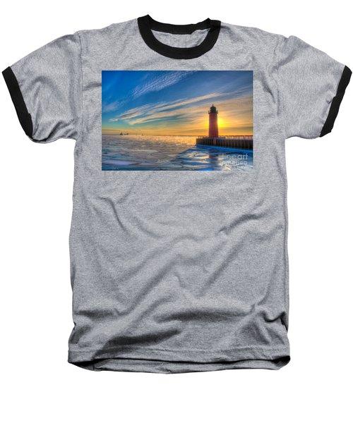 Sunrise Pierhead Baseball T-Shirt