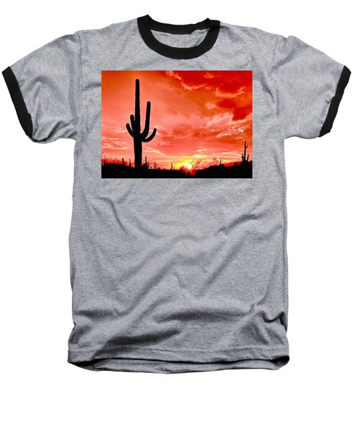 Sunrise Saguaro National Park Baseball T-Shirt