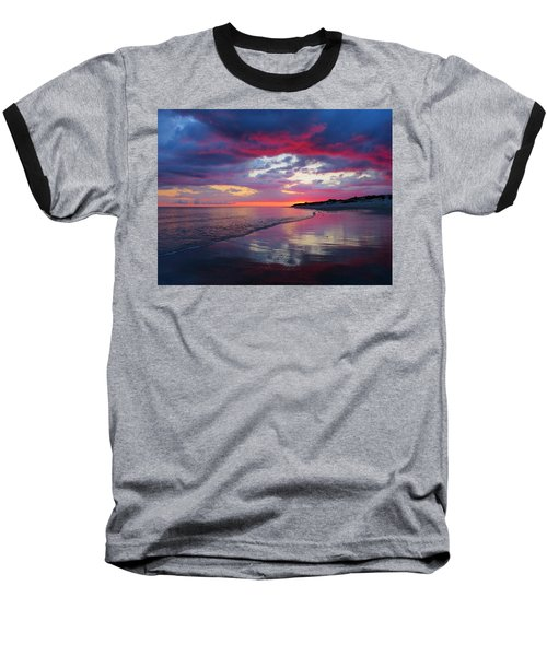 Sunrise Sizzle Baseball T-Shirt by Dianne Cowen