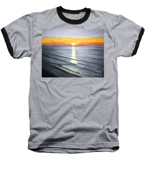 Baseball T-Shirt featuring the painting Sunrise by Stacy C Bottoms