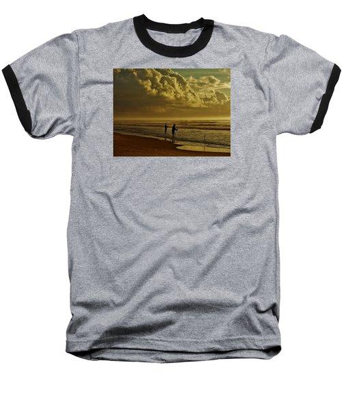 Sunrise Surf Fishing Baseball T-Shirt by Ed Sweeney
