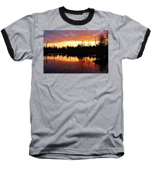 Sunrise Thanksgiving Morning Baseball T-Shirt by Joe Faherty
