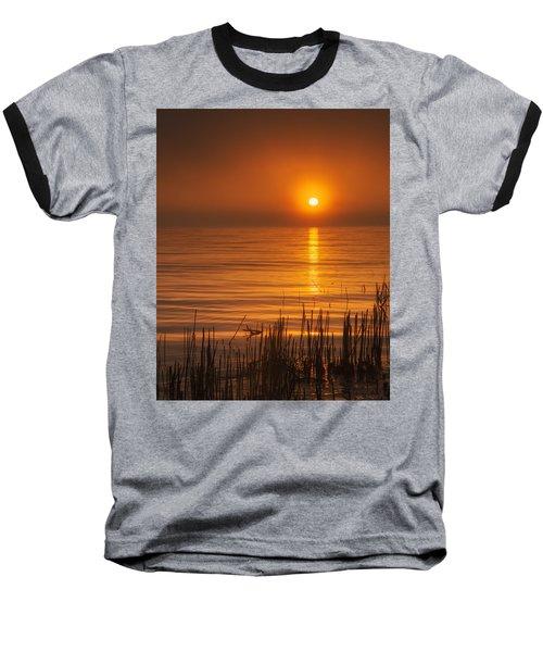 Sunrise Through The Fog Baseball T-Shirt by Scott Norris