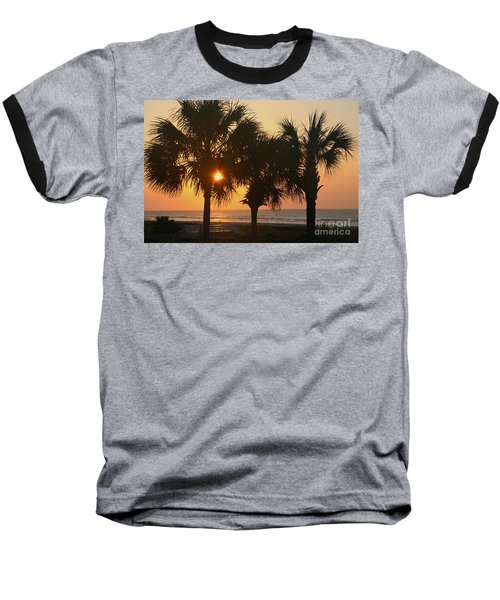 Sunrise Through The Palms Baseball T-Shirt by Kevin McCarthy