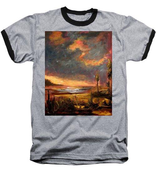 Sunrise With Birds  Baseball T-Shirt