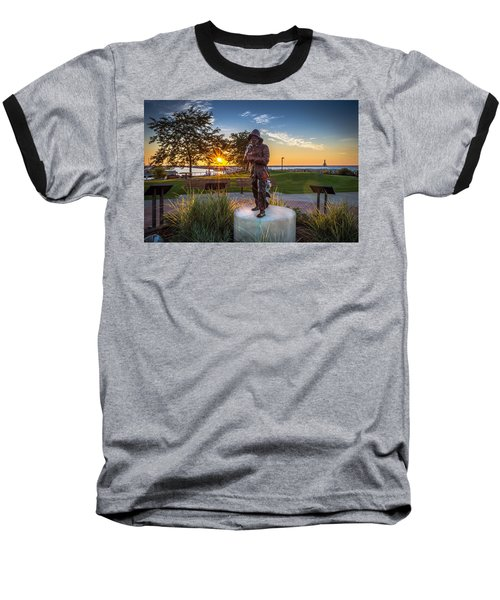 Sunrise With The Fisherman Baseball T-Shirt