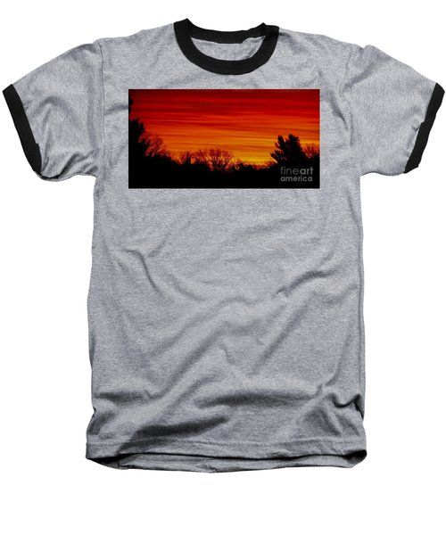 Baseball T-Shirt featuring the photograph Sunrise Y-town by Angela J Wright