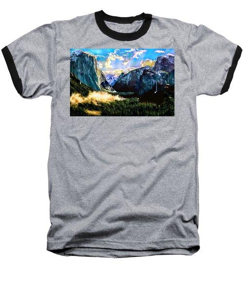 Sunrise Yosemite Valley Nationalpark Baseball T-Shirt