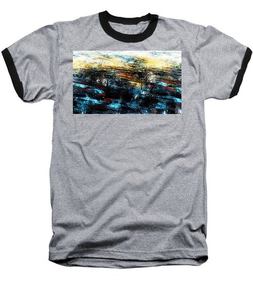 Baseball T-Shirt featuring the digital art Sunset 083014 by David Lane