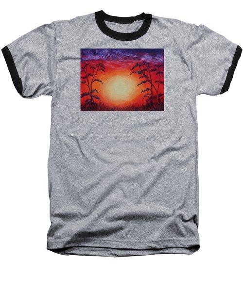 Sunset 1 Baseball T-Shirt by Jeanne Fischer