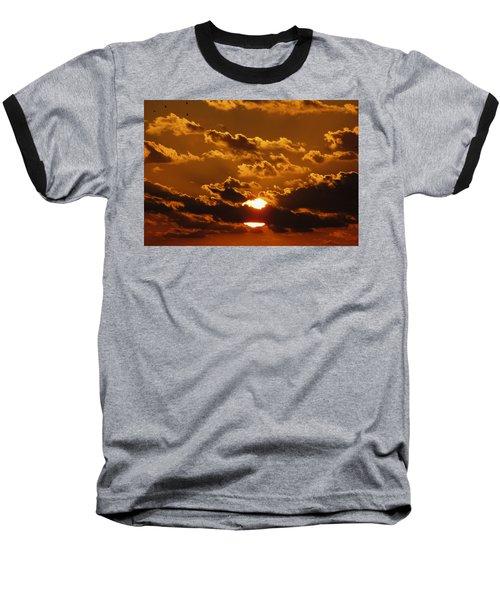 Sunset 5 Baseball T-Shirt