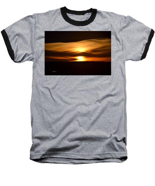 Sunset Abstract I Baseball T-Shirt